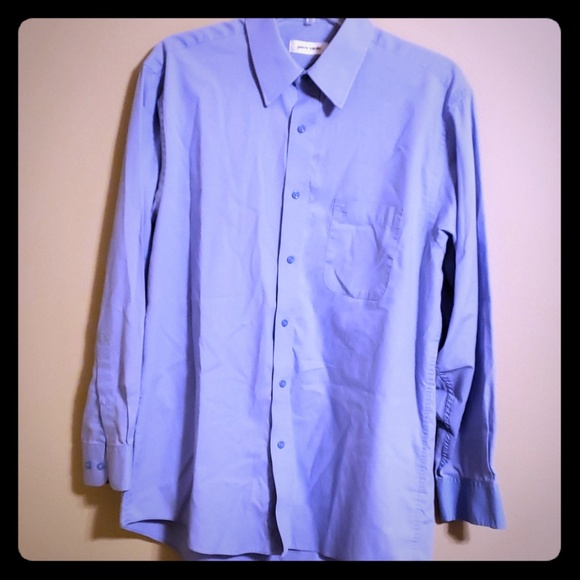 Pierre Cardin Men/'s Long Sleeve Slim Fit Dress Shirt Blue Size 16 32//33